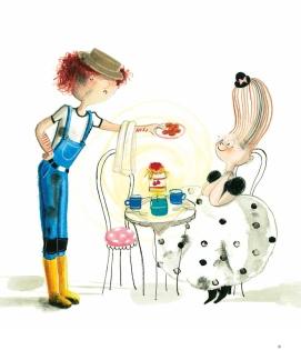 illustratie uit Barones van Stippeltje, geschreven door Marieke van Hooff, verscheen bij Abimo/Pelckmans zomer 2015