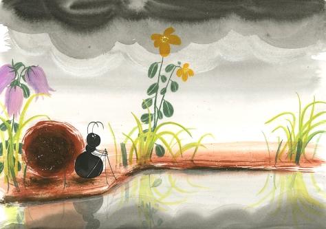 Ik lees graag met mier en mug. Auteur: Katrien Vandewoude. Uitgever: Abimo/Pelckmans