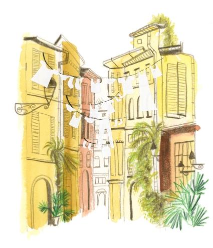 Illustratie bij column voor Italien Magazine (duits)