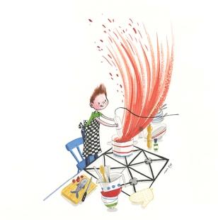 Illustratie voor leesmethode Station Zuid, Uitgeverij Malmberg - 2014/15
