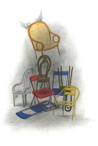 Illustratie bij column in Italien Magazin