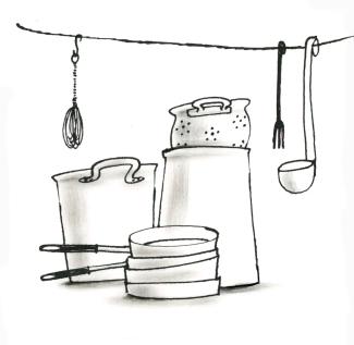Illustratie voor foodblog